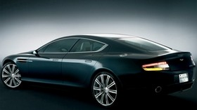 aston martin, rapide, 2006, concept car, black, side view, aston martin, car - wallpapers, picture