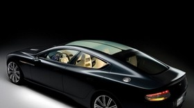 aston martin, rapide, 2006, concept car, black, side view, aston martin, style - wallpapers, picture