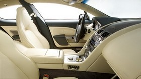 aston martin, rapide, 2009, white, salon, interior, steering wheel - wallpapers, picture