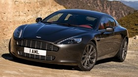 aston martin, rapide, 2009, black, front view, auto, aston martin, nature - wallpapers, picture