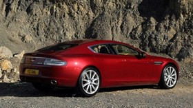 aston martin, rapide, 2009, red, side view, aston martin, rock - wallpapers, picture