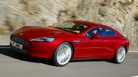 aston martin, rapide, 2009, red, side view, aston martin, speed, asphalt - wallpapers, picture