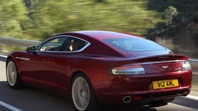 aston martin, rapide, 2009, red, side view, style, aston martin, speed - wallpapers, picture
