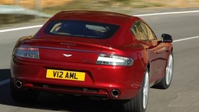 aston martin, rapide, 2009, red, rear view, auto, aston martin, asphalt - wallpapers, picture