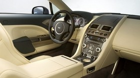 aston martin, rapide, 2009, interior, steering wheel, speedometer - wallpapers, picture
