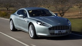 aston martin, rapide, 2009, silver, front view, auto, aston martin, mountains - wallpapers, picture