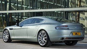 aston martin, rapide, 2009, silver metallic, side view, car - wallpapers, picture