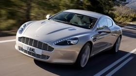 aston martin, rapide, 2009, silver, front view, aston martin, asphalt - wallpapers, picture