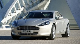 aston martin, rapide, 2009, silver, front view, auto, aston martin - wallpapers, picture