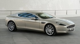 aston martin, rapide, 2009, gray, side view, style, aston martin - wallpapers, picture