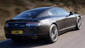 aston martin, rapide, 2009, gray, rear side view, auto, aston martin, speed - wallpapers, picture