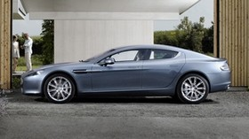 aston martin, rapide, 2009, blue, side view, style, aston martin, asphalt - wallpapers, picture