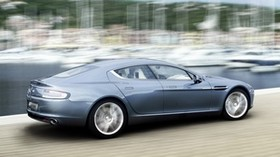 aston martin, rapide, 2009, blue, side view, style, aston martin, speed - wallpapers, picture