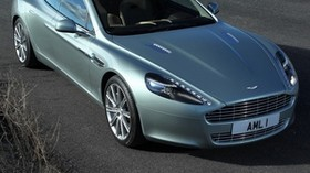 aston martin, rapide, 2009, green, top view, car, aston martin, asphalt - wallpapers, picture
