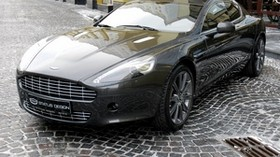 aston martin, rapide, 2011, black, front view, aston martin, style - wallpapers, picture