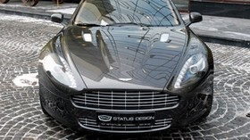 aston martin, rapide, 2011, black, front view, aston martin, street - wallpapers, picture