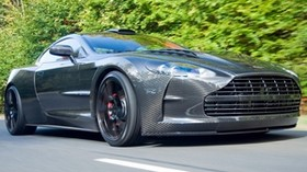 aston martin, gray, road, front bumper - wallpapers, picture