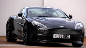 aston martin, tuning, black, front view - wallpapers, picture