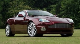 aston martin, v12, vanquish, 2001, burgundy, side view, auto, aston martin, nature - wallpapers, picture