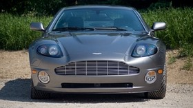 aston martin, v12, vanquish, 2001, gray, front view, aston martin, car - wallpapers, picture