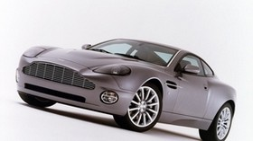 aston martin, v12, vanquish, 2001, purple, side view, auto, aston martin - wallpapers, picture