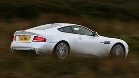 aston martin, v12, vanquish, 2004, white, side view, aston martin, speed - wallpapers, picture