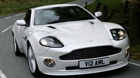 aston martin, v12, vanquish, 2004, white, front view, auto, aston martin, nature - wallpapers, picture