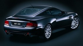 aston martin, v12, vanquish, 2004, black, side view, style, aston martin - wallpapers, picture