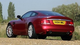 aston martin, v12, vanquish, 2004, red, rear view, style, aston martin, nature - wallpapers, picture