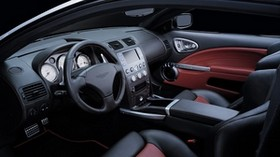 aston martin, v12, vanquish, 2004, salon, interior, steering wheel, speedometer - wallpapers, picture