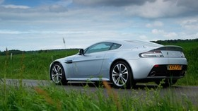 aston martin, v12, zagato, 2009, side view, silver metallic, sport, aston martin, grass, car - wallpapers, picture