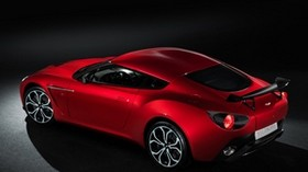 aston martin, v12, zagato, 2012, red, side view, style, car - wallpapers, picture