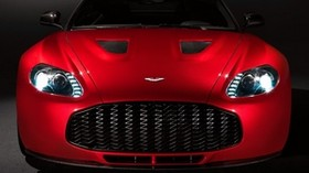 aston martin, v12, zagato, 2012, red, front view, aston martin, car - wallpapers, picture