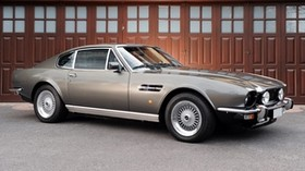 aston martin, v8, 1972, gray, side view, auto, aston martin - wallpapers, picture