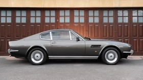 aston martin, v8, 1972, gray, side view, retro, aston martin, auto - wallpapers, picture