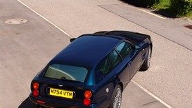 aston martin, v8, 2005, blue, top view, style, aston martin, asphalt - wallpapers, picture