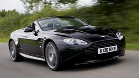 aston martin, v8, 2010, black, side view, auto, aston martin, speed - wallpapers, picture
