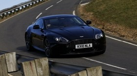 aston martin, v8, 2010, black, front view, style, aston martin, track - wallpapers, picture