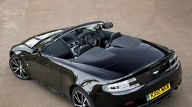 aston martin, v8, 2010, black, top view, auto, style, aston martin, convertible - wallpapers, picture