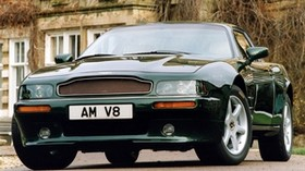 aston martin, v8, coupe, 1996, green, front view, auto, aston martin, house - wallpapers, picture