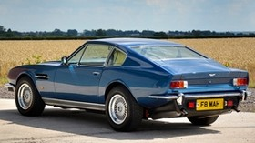 aston martin, v8, saloon, 1972, blue, rear view, auto, aston martin, nature - wallpapers, picture