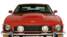 aston martin, v8, saloon, 1972, red, front view, auto, aston martin, retro - wallpapers, picture