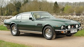 aston martin, v8, saloon, 1972, green, side view, auto, aston martin, asphalt - wallpapers, picture