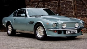 aston martin, v8, vantage, 1977, blue, front view, auto, retro - wallpapers, picture
