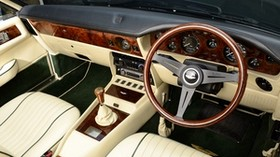 aston martin, v8, vantage, 1984, salon, interior, steering wheel, speedometer - wallpapers, picture