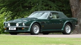 aston martin, v8, vantage, 1984, green, side view, auto, aston martin, retro - wallpapers, picture