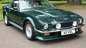 aston martin, v8, vantage, 1984, green, front view, auto, aston martin - wallpapers, picture