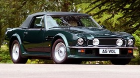 aston martin, v8, vantage, 1984, green, front view, retro, aston martin, auto - wallpapers, picture