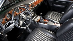aston martin, v8, vantage, 1986, black, salon, interior, steering wheel, speedometer - wallpapers, picture