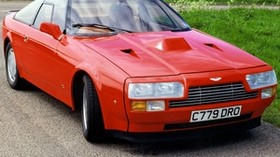 aston martin, v8, vantage, 1986, red, front view, auto, aston martin, retro - wallpapers, picture